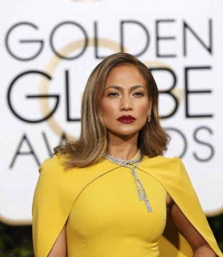 Jennifer Lopez arrives at the 73rd Golden Globe Awards in Beverly Hills