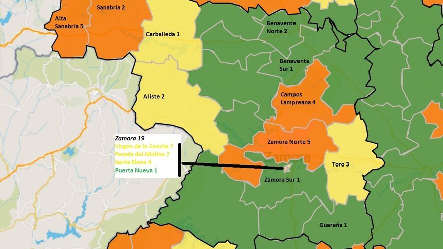 Coronavirus: los casos aumentan en Zamora Norte y Campos y disminuyen en la capital