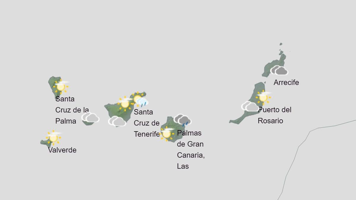 Previsión del tiempo en Canarias para el miércoles, 9 de diciembre de 2020