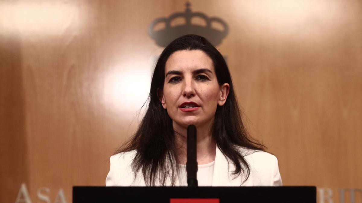 La portavoz de Vox, Rocío Monasterio.