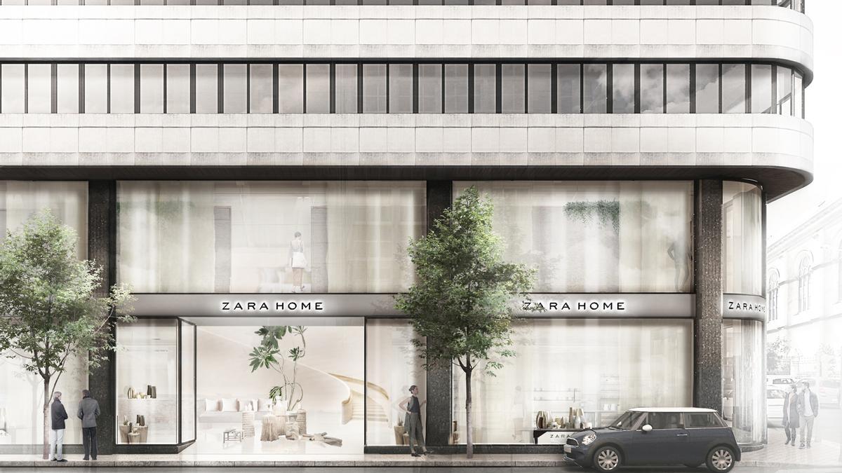 Recreación del nuevo concepto de tienda de Zara Home.