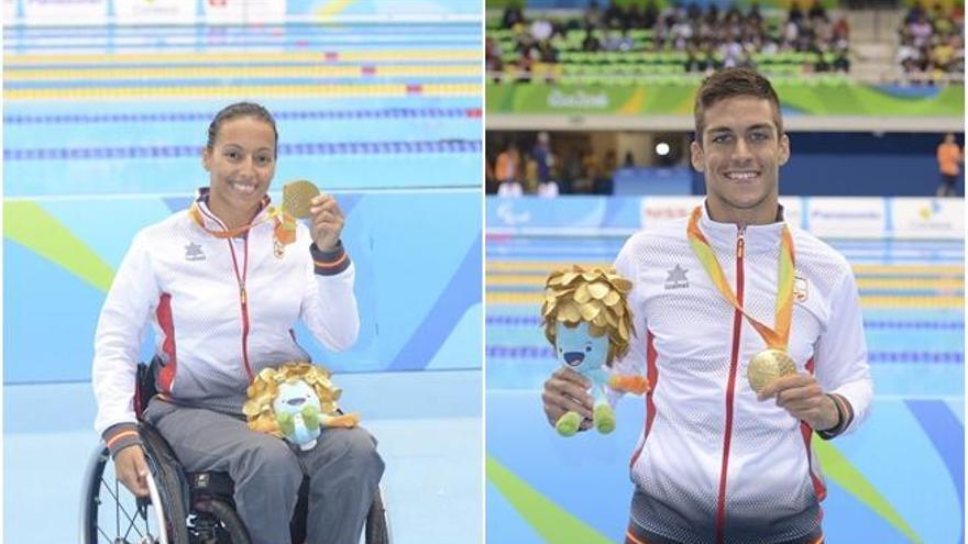 Perales y Oliver tiñen de oro otra gran jornada de la natación
