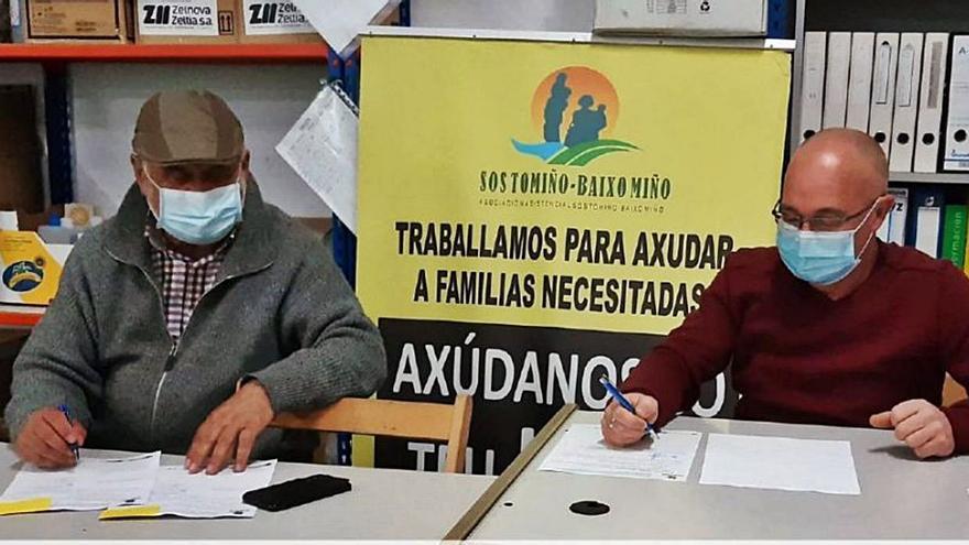 La asociación Érguete renueva su convenio con SOS Tomiño