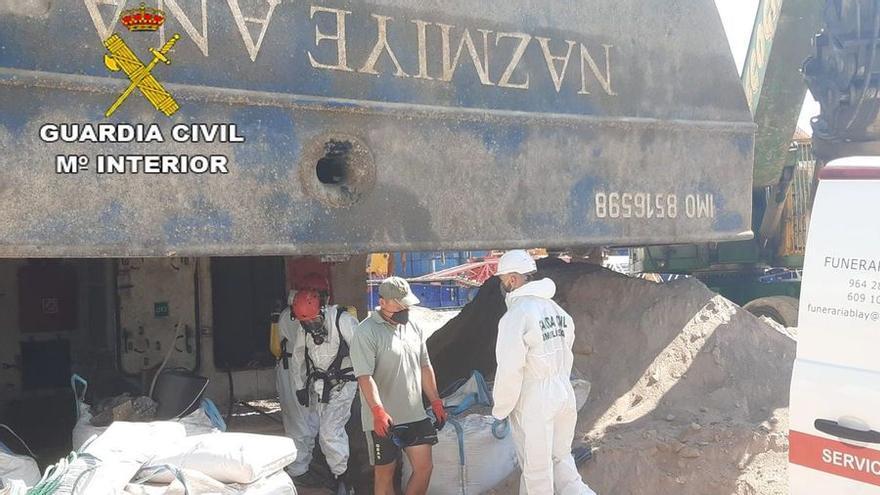 Recuperan en el interior del barco el cuerpo del estibador desaparecido en el Port de Castellón