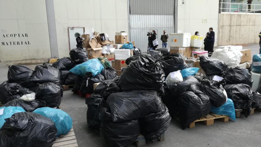 Incinerados los 145 kilos de cocaína encontrados flotando en aguas de Ibiza y Formentera