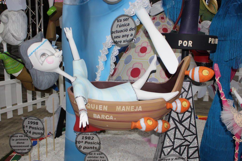 Remedios Amaya, con su barca