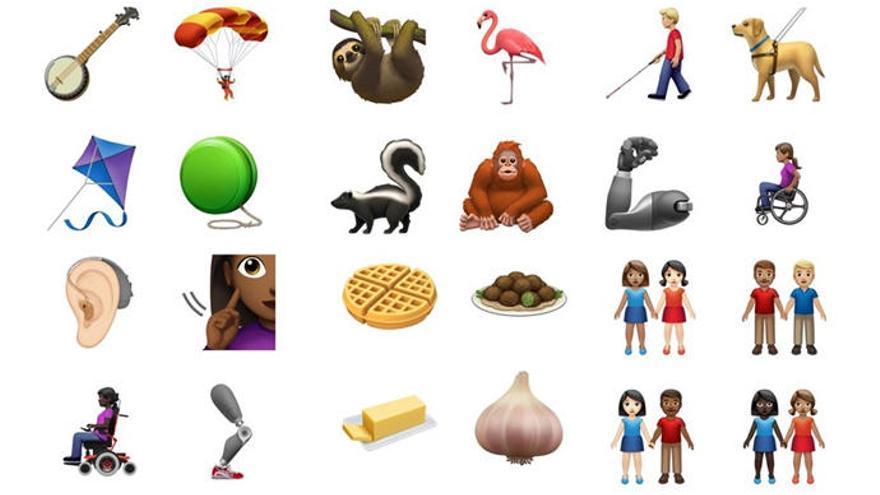 Algunos de los próximos 'emojis'.