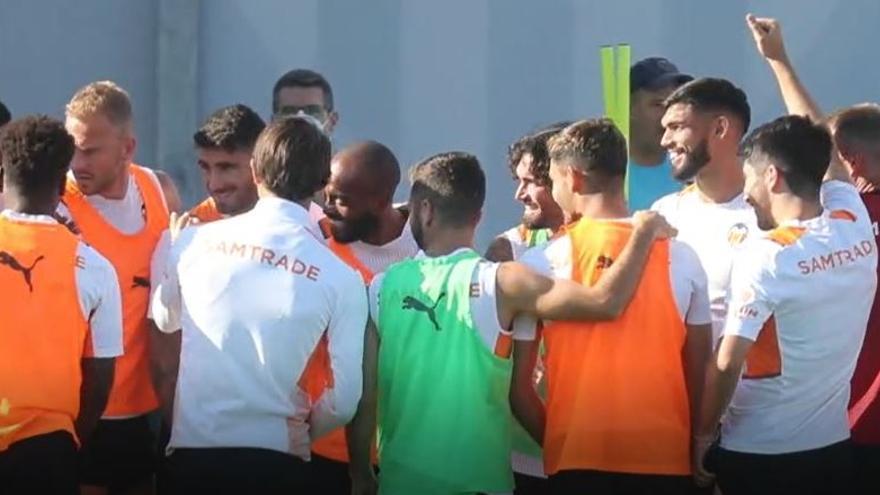 Último entrenamiento antes del Barcelona - Valencia