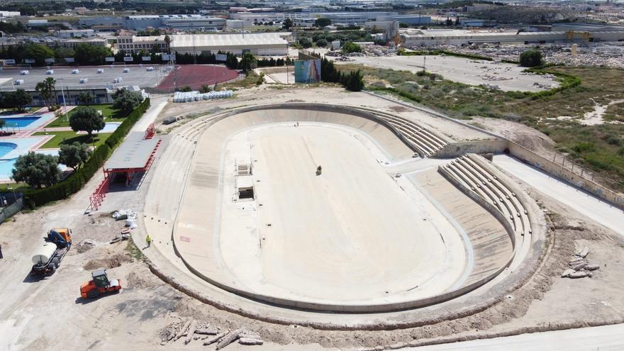 Las obras del velódromo de Novelda finalizarán en otoño