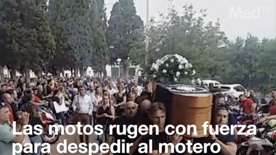 Emotivo adiós con rugir de motos en Vila-real