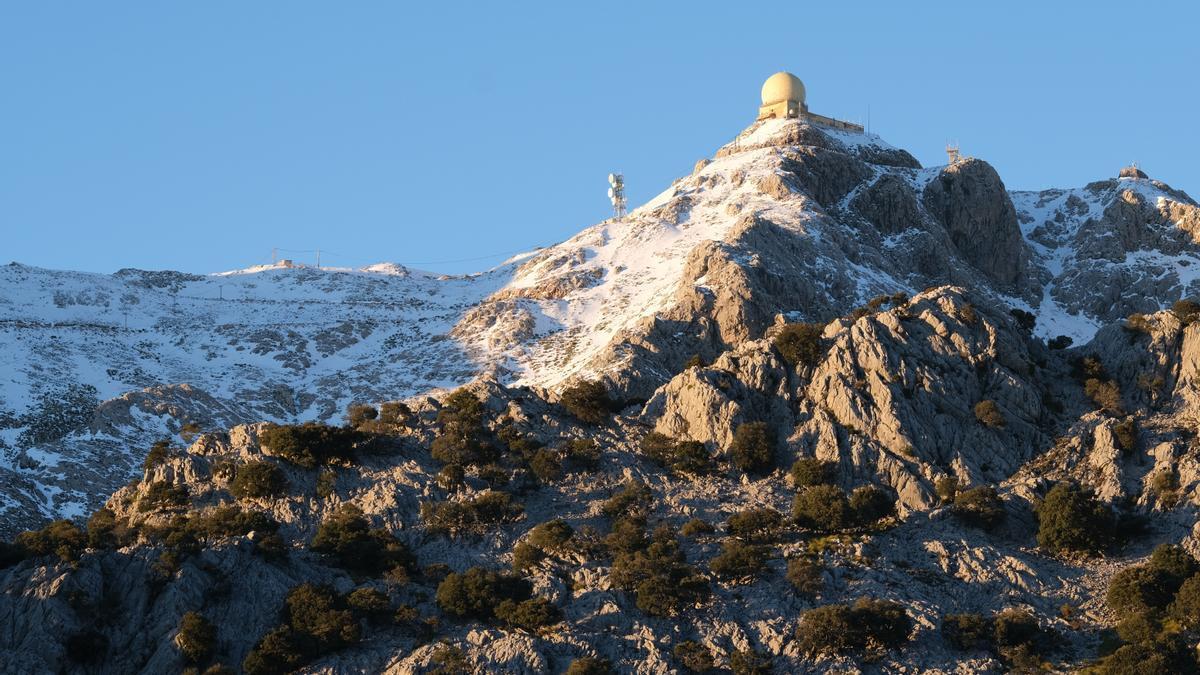 Nieve en el Puig Major