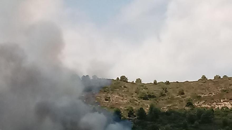Incendio en el Picaio de Algímia d'Alfara