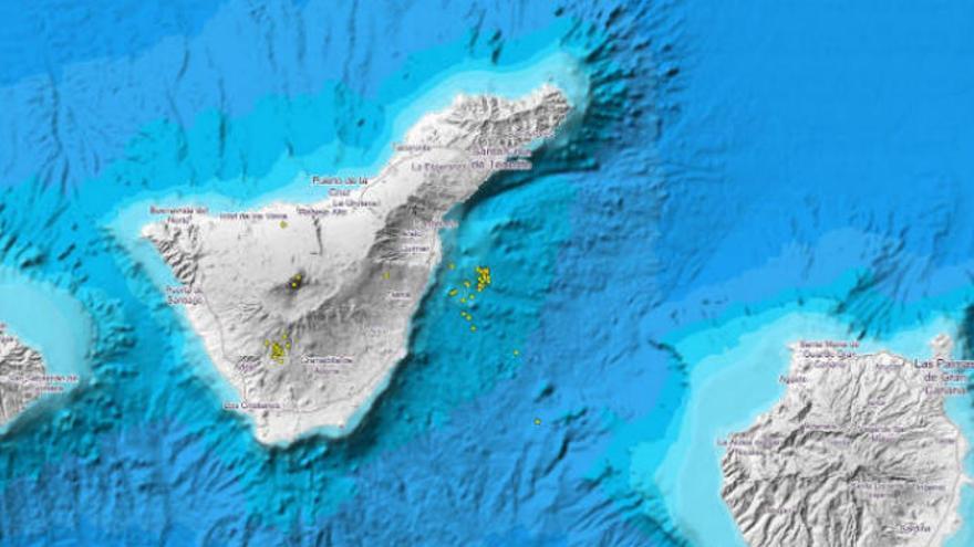 Enjambre de 30 terremotos en cinco puntos de Tenerife