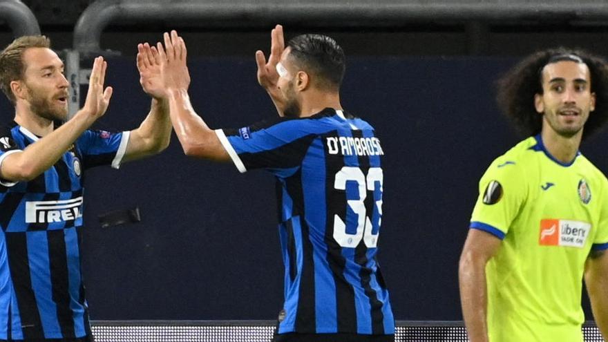 El Getafe se despide ante el Inter tras fallar un penalti