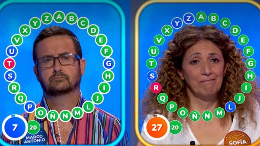 Sofía y Marco Antonio podrían ganar 'El Rosco' de Pasapalabra este lunes