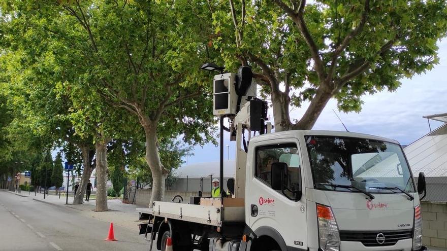 La Jonquera finalitza la primera fase de la millora de l'enllumenat públic