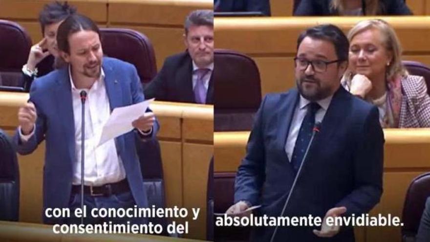 Rifirrafe entre Asier Antona y Pablo Iglesias en el Senado