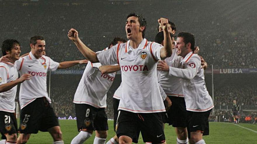 La sonrisa de David Silva al recordar la Copa del Rey del Valencia CF en 2008