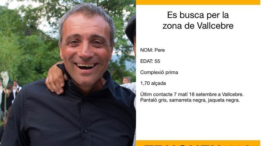Busquen un home de 55 anys desaparegut a Vallcebre des de dissabte