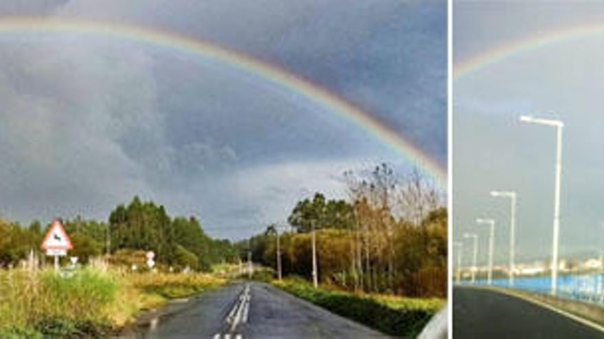 Arcoiris de Malpica a Ferrol