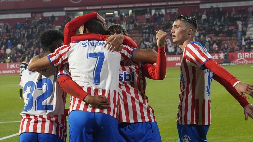 Girona-Saragossa (1-1): Stuani sempre hi és quan se'l necessita