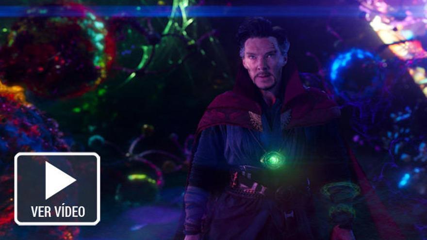 Doctor Strange lucha contra enemigos invisibles en 'Vengadores: Infinity War'