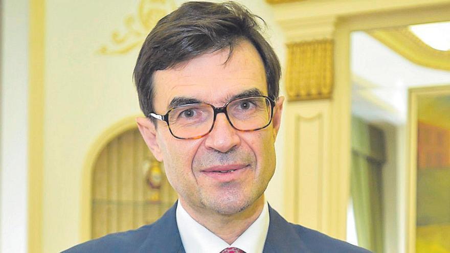 Juan González-Barba Pera, secretario de Estado para la UE, en la Delegación del Gobierno en Canarias.