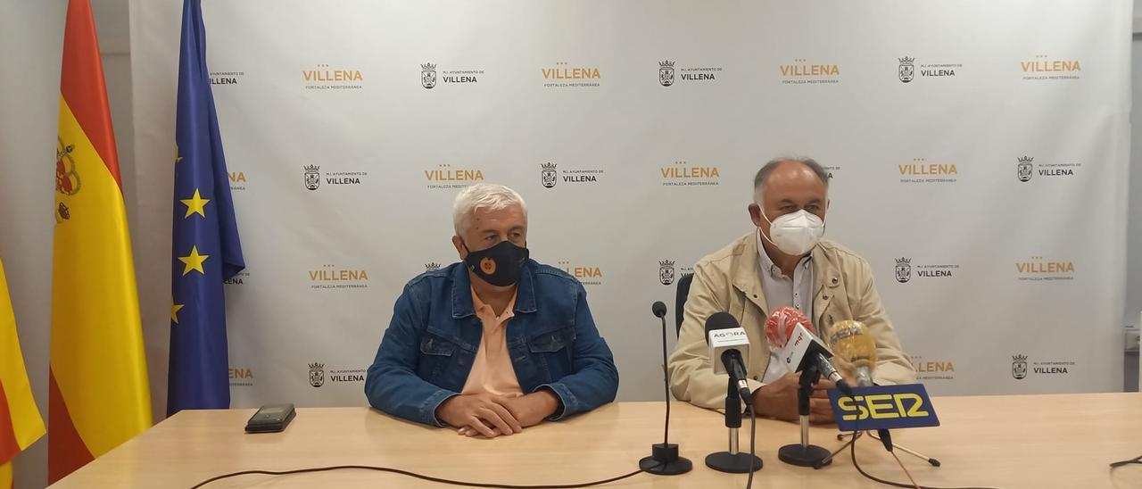 La rueda de prensa en la que se ha anunciado el traslado de la patrona de Villena.