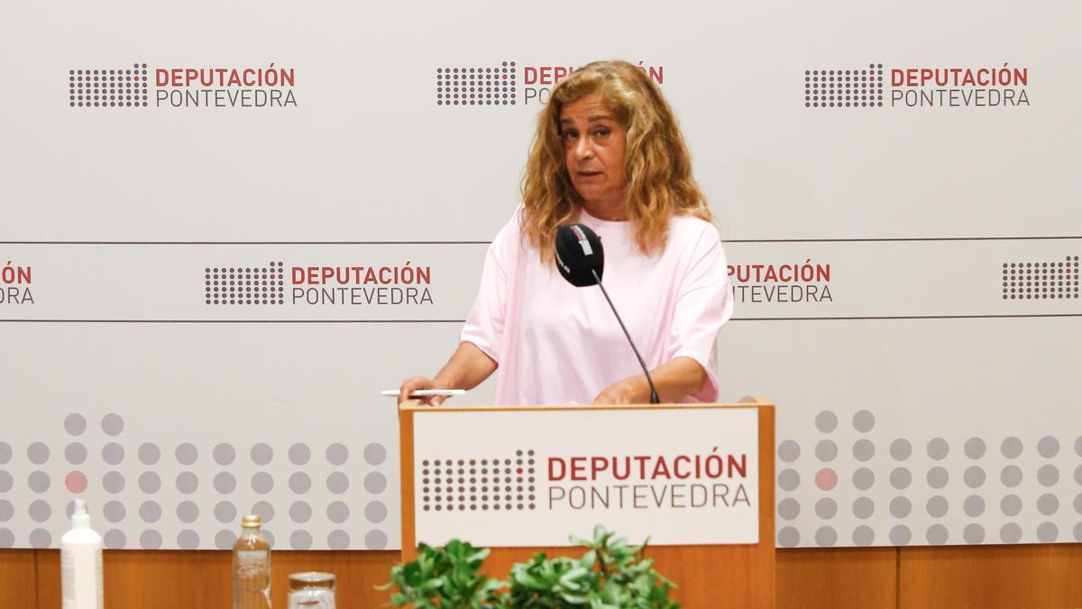 Carmela Silva en la presentación de la iniciativa