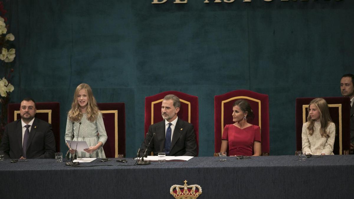 Entrega de los premios Princesa de Asturias en una edición anterior