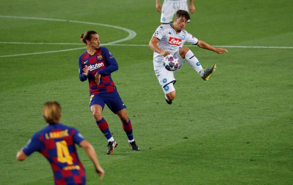 Las imágenes del Barcelona-Nápoles.