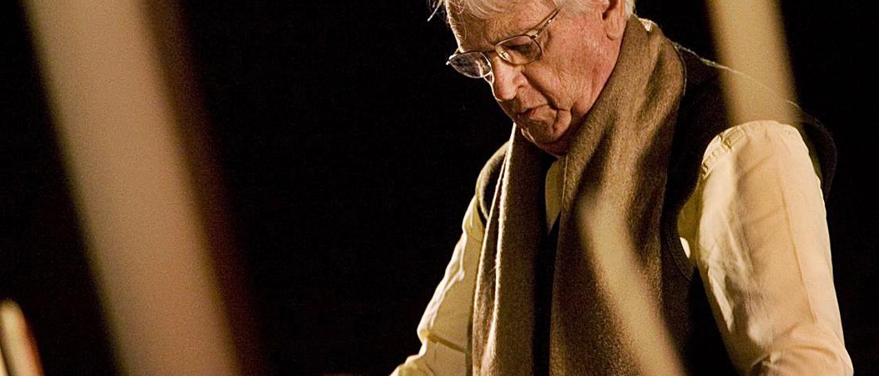 El compositor Cristóbal Halffter, en un concierto en 2010.  |
