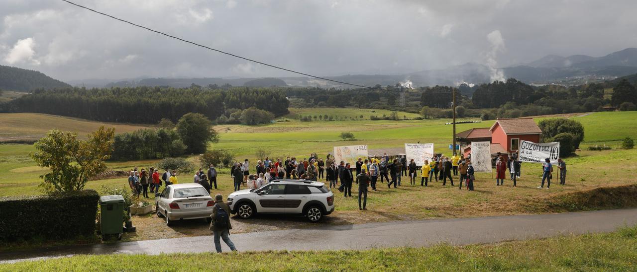 Manifestación contra la subestación hace un mes