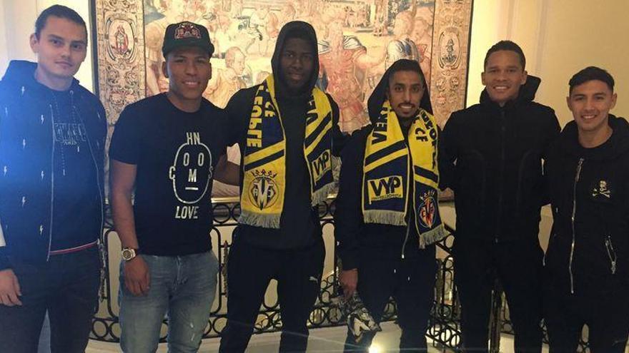 Salem y Jaber ya conocen a algunos de sus compañeros en el Villarreal