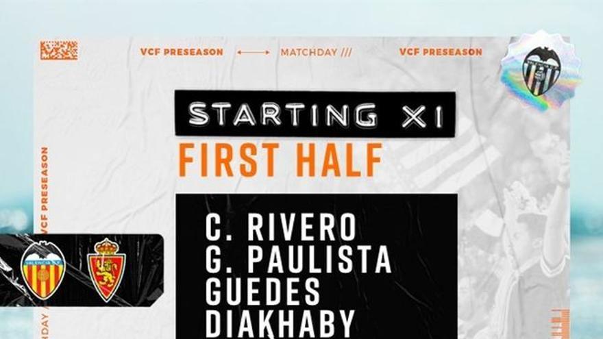 Vuelven Maxi y Gayà al once del Valencia CF