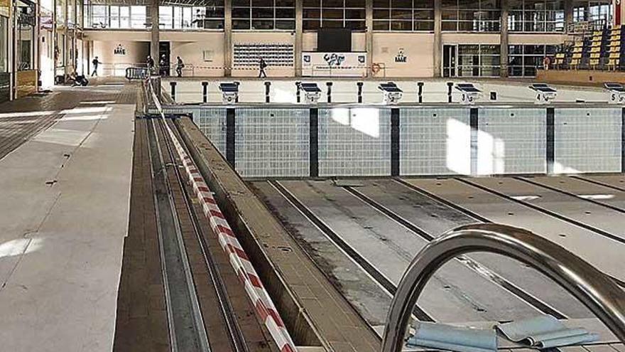 Las piscinas de Son Hugo prevén abrir en enero tras siete meses de obras