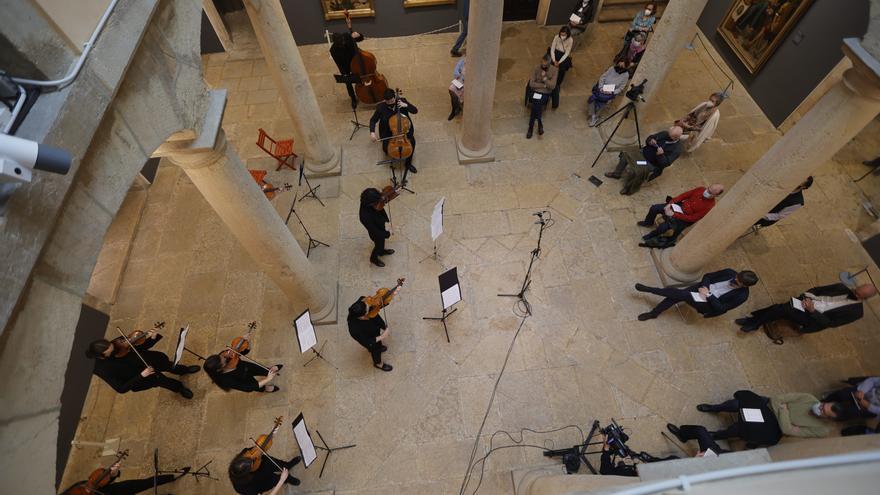 Broche de oro musical a la exposición de pintura de la colección de arte español de la colección de Plácido Arango en el Bellas Artes