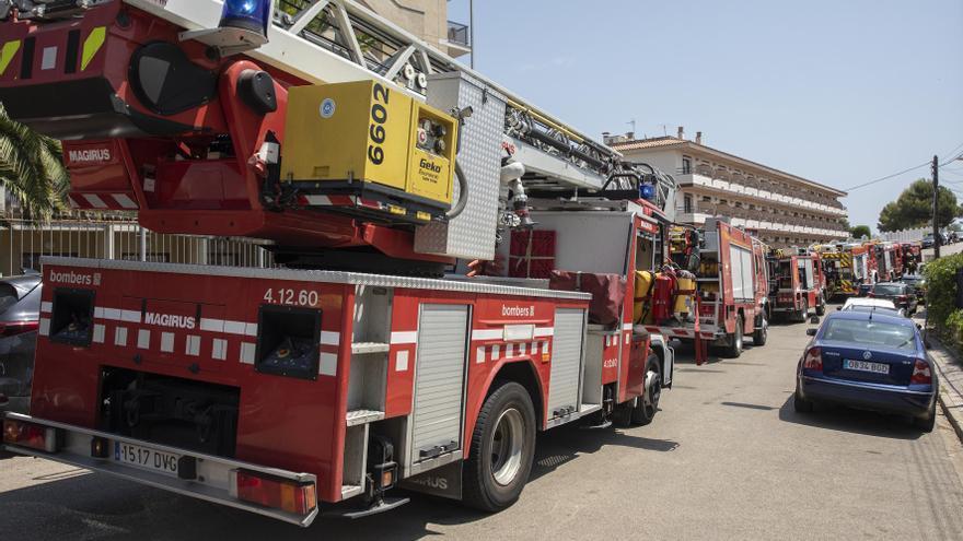 Incendi a la sauna d'un hotel de Lloret