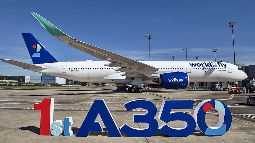 World2Fly recibe su primer Airbus A350-900