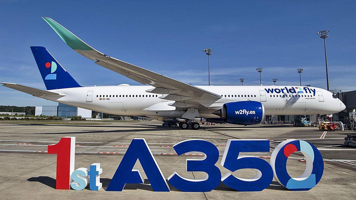 World2Fly recibe su primer Airbus A350-900.