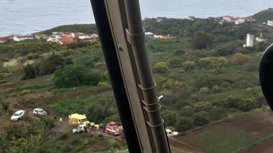 Imagen aérea del lugar del accidente.