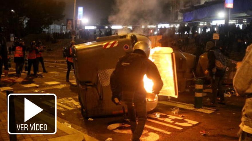 La nit del Clàssic i del Tsunami acaba amb deu detinguts fora del Camp Nou