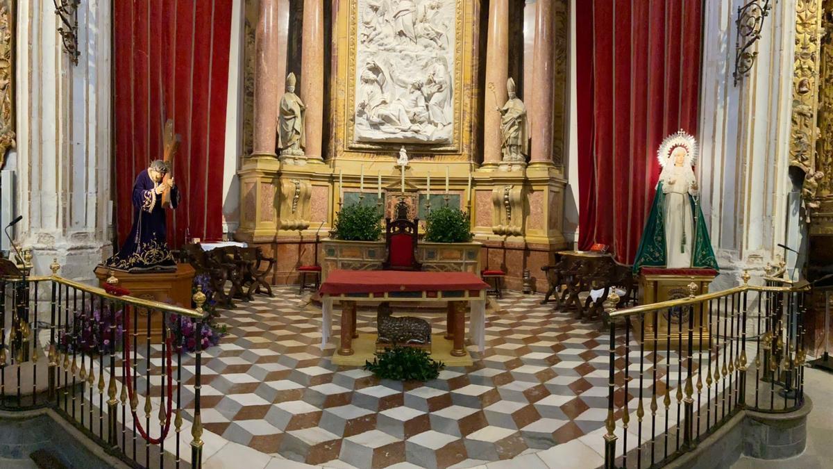 El Nazareno de San Frontis y la Esperanza, en la Catedral