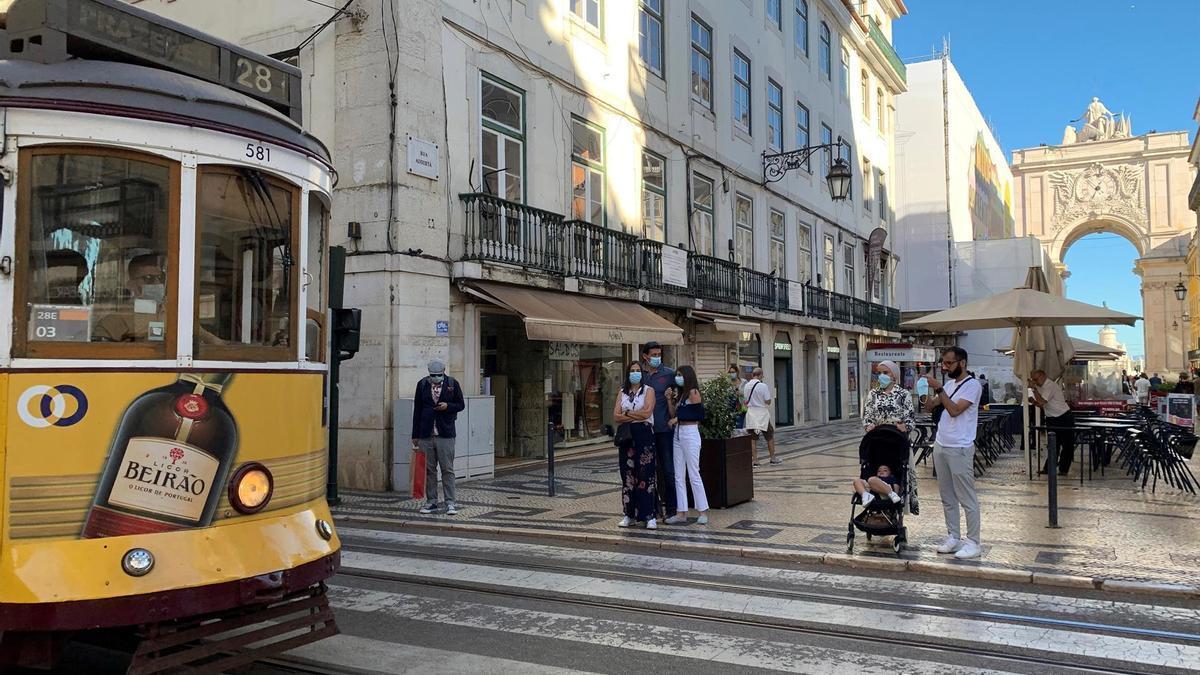 El centro de Lisboa.
