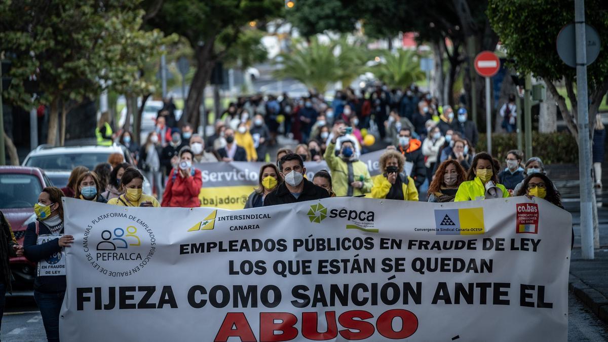 Concentración de trabajadores públicos en abuso de temporalidad.