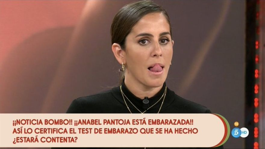 Bomba en Sálvame: Anabel Pantoja conoce en directo que está embarazada