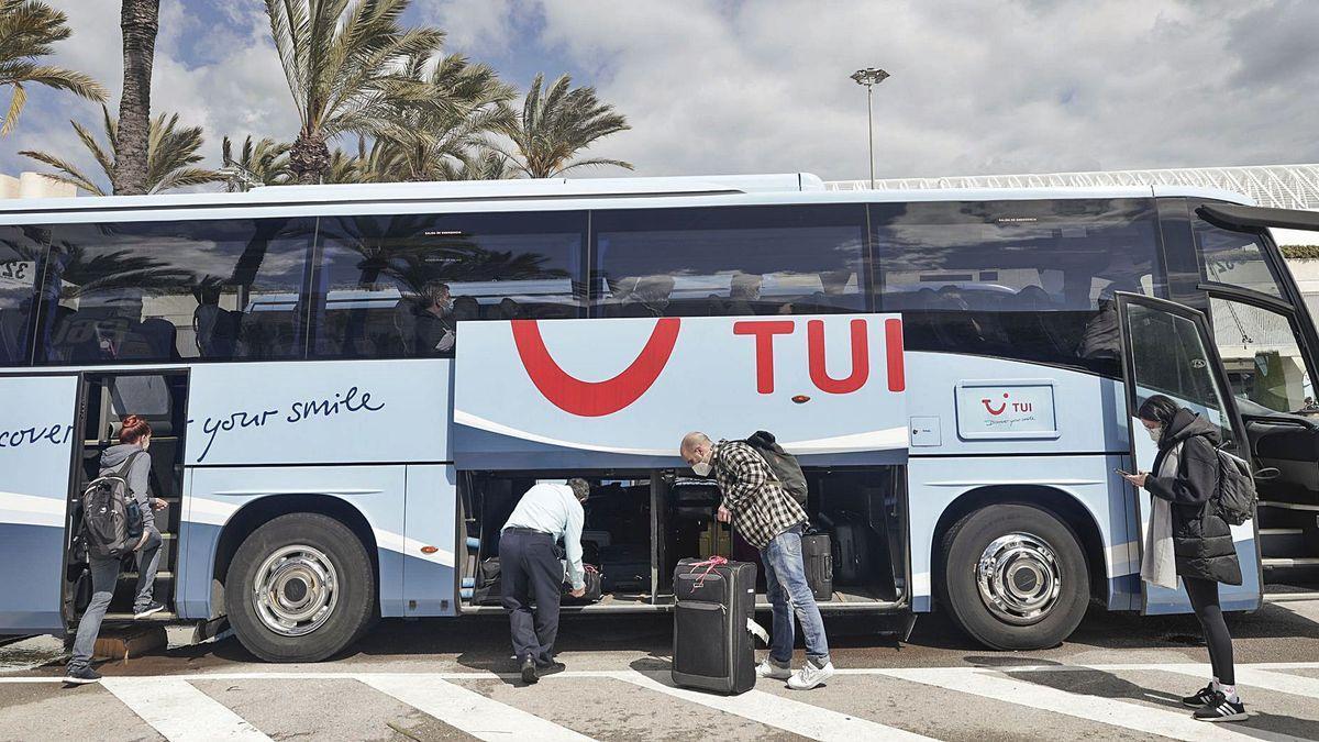 Turistas llegados con la aerolínea de TUI