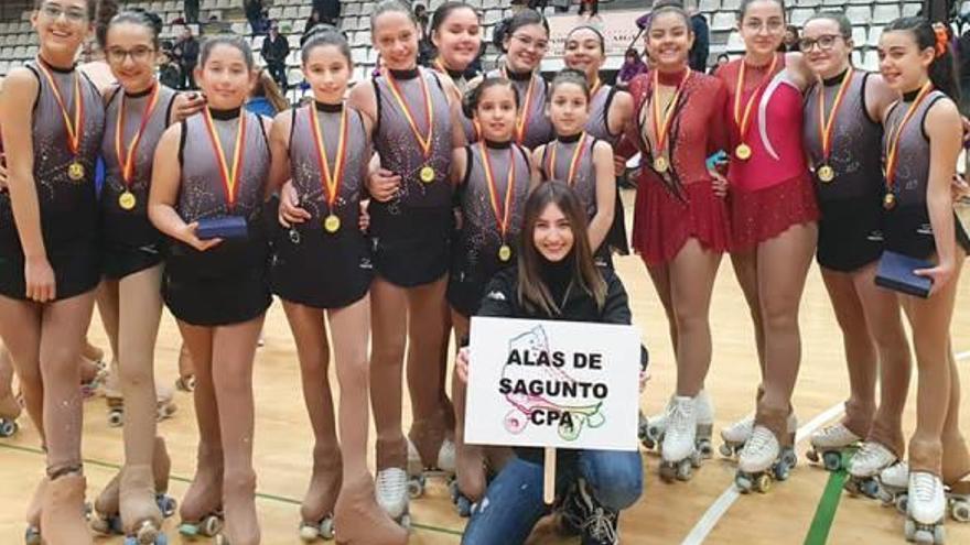 El Alas participa en  el I Trofeo Burjedeta de patinaje artístico