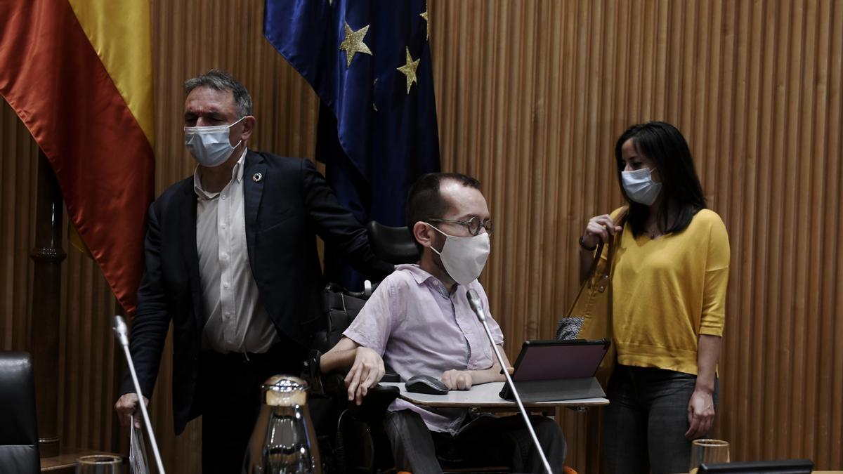 Pablo Echenique, en el Congreso.
