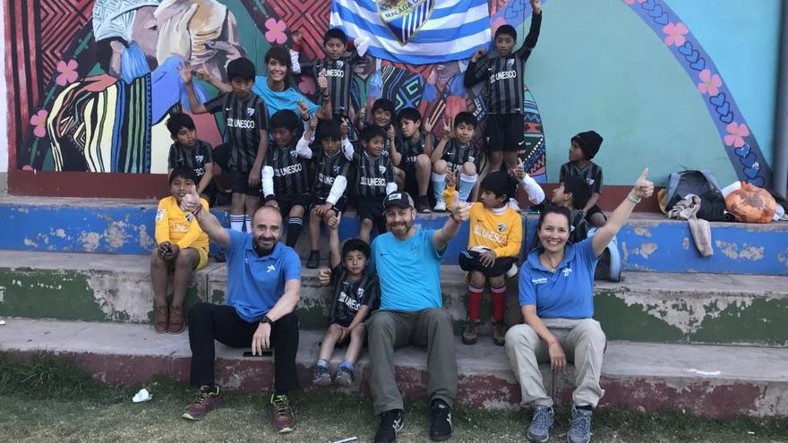 Un malagueño ayudando en Perú: El agradecimiento en una mochila